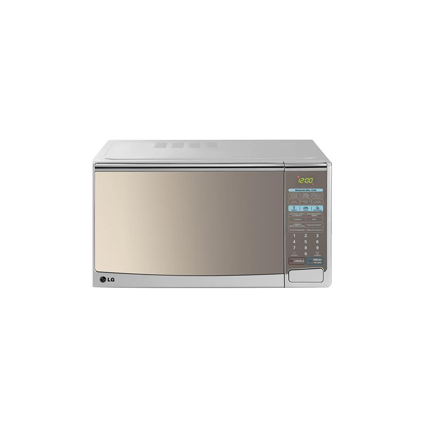 c4d3a7561 Forno de Micro-ondas LG Mirror Silver Grill MH-7049CA - 30 Litros ...