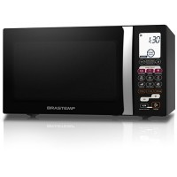 MICROONDAS DIGITAL BRASTEMP 30L SILVER BLACK
