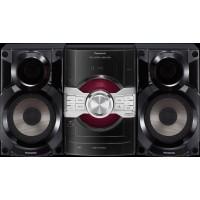MINI SYSTEM PANASONIC 290W FM/USB/CD/Aux - Preto/Prata