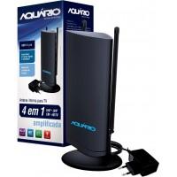 ANTENA TV INTERNA AQUARIO DTV, VHF, UHF & HDTV - AMPLIFICADA