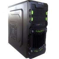 GABINETE ATX GAMER 2 BAIAS DUAL USB 3.0 GREEN SPIDER