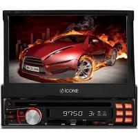 DVD PLAYER ICONE TOUCHSCRENN TELA 7 DIVX USB SD AM FM