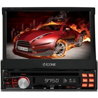 DVD PLAYER ICONE TOUCHSCRENN TELA 7 DIVX USB SD AM FM