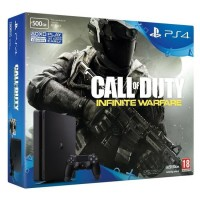 CONSOLE PLAYSTATION 4 500GB Slim + Jogo CALL OF DUTY