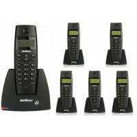 TELEFONE SEM FIO INTELBRAS C/ 5 RAMAIS IDENTIFICADOR
