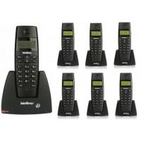 TELEFONE SEM FIO INTELBRAS C/ 6 RAMAIS IDENTIFICADOR