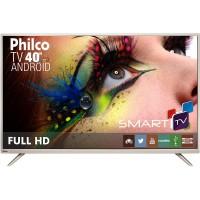 SMART TV 40 PHILCO C/ ANDROID FULL HD HDMI USB WIFI CONVERSOR DIGITAL