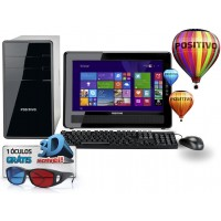 COMPUTADOR POSITIVO DUAL CORE 2GB RAM HD 320GB DVD WIN70 TELA 15