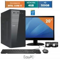 GABINETE EASYPC CORE I3 4GB RAM HD 500GB WIN 10 LED 19