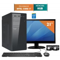 COMPUTADOR EASYPC CORE I7 8GB RAM HD 1TB WIN 10 LED 21
