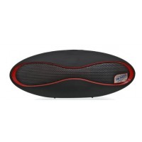 CAIXA DE SOM PORTATIL AMPLIFICADA USB BLUETOOTH 20w FM RED/BLACK