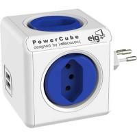 Filtro de Linha ELG PowerCube Original USB 4 Tomadas Bivolt
