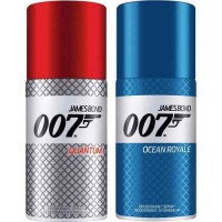 KIT DESODORANTE MASCULINO 007 JAMES BOND RED + BLUE