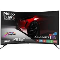 SMART TV 55 4K PHLICO C/ ANDROID HDMI USB WIFI CONVERSOR DIGITAL UHD CURVA