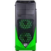 GABINETE ATX DUAL COOLER PC YES EM ACRILICO - GREEN