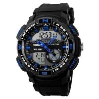 Relógio Skmei Anadigi Azul à prova d'agua 5ATM