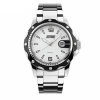 Relógio Skmei Analógico Branco à prova d'agua 5ATM