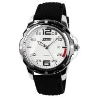 Relógio Skmei Analógico Branco à prova d'agua 3ATM