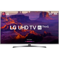 SMART TV 55 LG UHD 4K HDMI USB WIFI CONVERSOR DIGITAL - PRATA