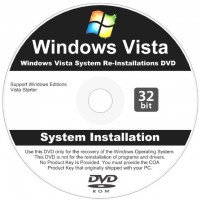 DVD-R ORIGINAL WINDOWS VISTA STARTER 32 BITS