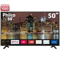 SMART TV 50 FULL HD PHILCO HDMI USB DUAL CORE DTV CONVERSOR DIGITAL WIFI