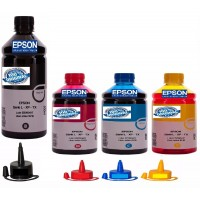 TINTAS EPSON KIT 04 CORES 2500ML L355 L365 L375 L395 ORIGINAIS