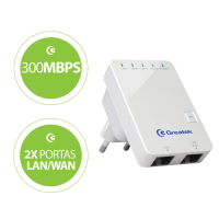 REPETIDOR WIFI 300 MBPS GREATEK 2.4 GHz 20dBm