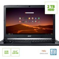 NOTEBOOK ACER INTEL CORE i7 8GB RAM GEFORCE COM 2GB HD 1TB TELA LED 15.6 POLEGADAS WIN 10