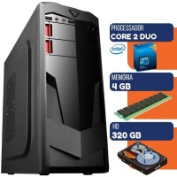 PC DESKTOP INTEL CORE 2 DUO 4GB RAM HD 320GB WIN 10 GABINETE GAMMER