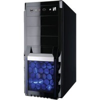 GABINETE GAMER ELITE ATX  - PRETO COM LED AZUL