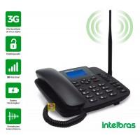 TELEFONE CELULAR FIXO RURAL 3G COM BINA INTELBRAS 5 BANDAS DESBLOQUEADO