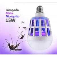 LAMPADA LUZ LED 15 WATTS REPELENTE MATA MOSQUITO PERNILONGO