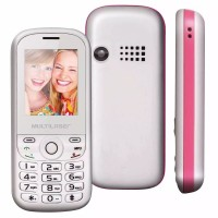 CELULAR MULTILASER 2 CHIPS MP3 MP4 BRANCO.ROSA