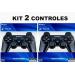 KIT 02 CONTROLES PS3 PRETO WIRELESS
