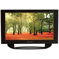 TV LED 14 CCE USB SOM STEREO TELA WIDESCREEN HDTV CONVERSOR DIGITAL - PRETA