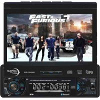 DVD AUTOMOTIVO CENTRAL MULTIMÍDIA NAPOLI TELA DE 8' TV + GPS + CARTÃO TELA TOUCH