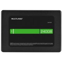HD SSD MULTILASER 240GB SATA III LEITURAS 540MBS / GRAVA 500MBS