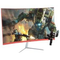 MONITOR CURVO 23 LED FULL HD HDMI VGA - PRETO/RED
