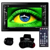NAPOLI DVD GPS AUTOMOTIVO TELA LED 7.0 TANGIVEL CAM RE TV DIGITAL 2 DIN BLUETOOTH SD USB