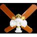 VENTILADOR DE TETO 130W 4 PAS 3 LAMPADAS C/ CONTROLE REMOTO