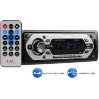 SOM AUTOMOTIVO MULTILASER MP3 USB CARTÃO SD FM c/ Controle Remoto