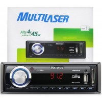 SOM AUTOMOTIVO MULTILASER MP3 USB CARTÃO SD FM