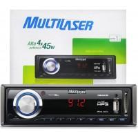 SOM AUTOMOTIVO MULTILASER MP3 USB CARTÃO SD FM