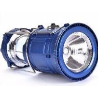 LANTERNA LAMPIAO SOLAR 6 LEDS RECARREGAVEL RETRATIL – USB – BIVOLT – AZUL