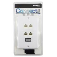 ESPELHO CONNECT 1 SAIDA HDMI F E 4 SAIDAS RJ45 F - CONNECT PRO