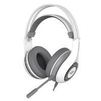 HEADSET GAMER C3 TECH USB 7.1 MICROFONE FIXO AJUSTAVEL - BRANCO