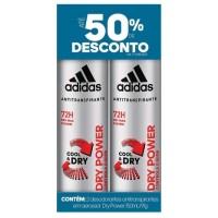 DESODORANTES ADIDAS COOL E DRY DRY POWER AEROSOL MASCULINO 150ML - 02 UND