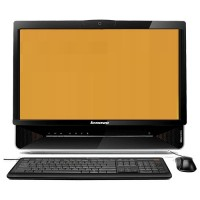 PC ALL IN ONE LENOVO TELA 20 INTEL DUAL CORE 3.20GHZ 2GB RAM HD 320GB GRAV DVD WIN10