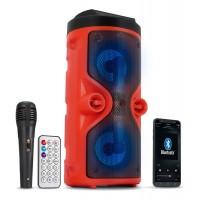 CAIXA SOM PORTATIL AMPLIFICADA BLUETOOTH USB FM MP3 SD 20W DJBOX