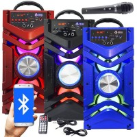 CAIXA SOM PORTATIL AMPLIFICADA BLUETOOTH USB FM MP3 SD TOWER 12W